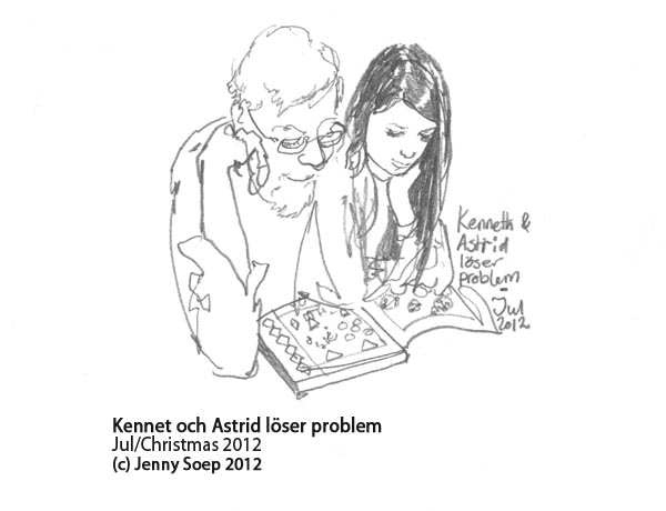Jul 6 - Astrid and Morfar solve problems