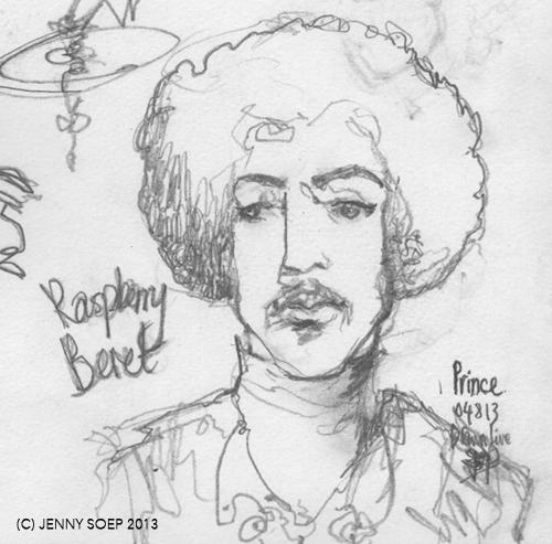PRINCE 4 Drawn Live by Jenny Soep 050813 m